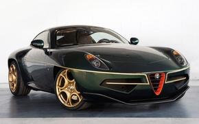 Картинка green, Alfa Romeo, front, Disco Volante, alfa