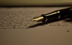 Картинка текст, лист, бумага, надписи, перо, ручка, почерк