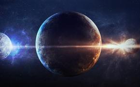 Картинка colors, planets, symmetry