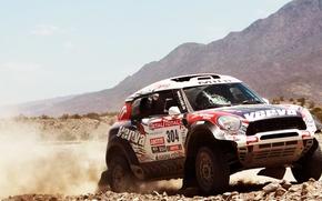 Картинка Mini, Горы, День, Mini Cooper, Rally, Dakar, Внедорожник, Ралли, Мини, X-raid, 304