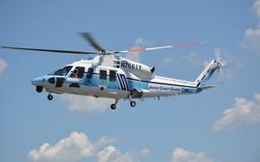 Обои S-76D, вертолет, полет, Sikorsky
