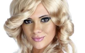 Картинка девушка, портрет, макияж, белые волосы