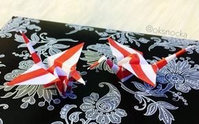 Картинка красота, оригами, журавлики