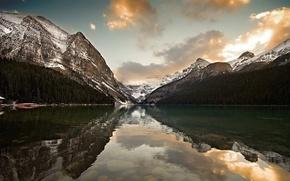 Обои горы, озеро, отражение