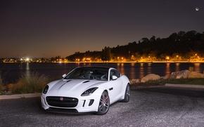 Картинка Jaguar, Coupe, Night, F-Type