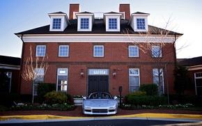 Картинка дом, серебряный, honda, nsx, Acura, Honda NSX