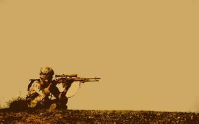 Картинка солдат, снайпер, снайперка, выжидание