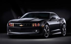 Картинка черный, Chevrolet, Camaro, шевроле, Black, камаро