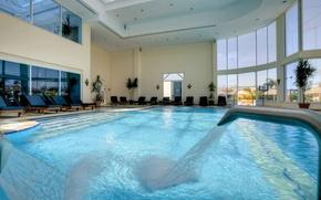 Картинка дизайн, стиль, интерьер, бассейн, помещение