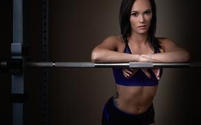 Картинка взгляд, девушка, спорт, фитнес
