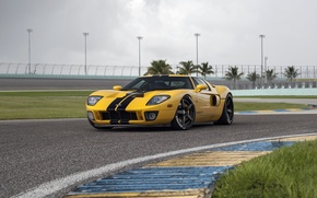 Картинка Ford GT, yellow, HRE, RS105