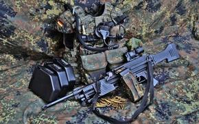 Картинка оружие, пулемёт, ручной, Heckler & Koch, MG4, снаряжения