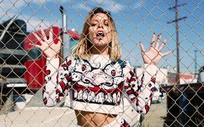 Картинка сетка, крик, фотосессия, Vanessa Hudgens, Flaunt