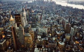 Картинка New York City, Манхэттен, JMK Photography, Нью-Йорк, город, Tilt Shift, Нью Йорк, США