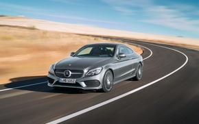 Обои Mercedes-Benz, мерседес, AMG, Coupe, C-Klasse, 2015, C205