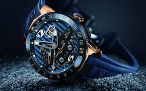 Обои wallpaper, moon, logo, beautiful, hand, luxury, numbers, watch, Ulysse, arrow, sugoi, chronometer, Ulysse Nardin, anchor, ...