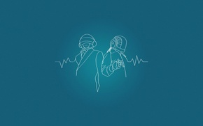 Картинка Минимализм, Рисунок, Музыка, Синий, Проект, Daft Punk, Гий-Мануэль де Омем Кристо, Французский хаус, Томас Бангальте, …