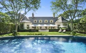 Картинка дом, вилла, бассейн