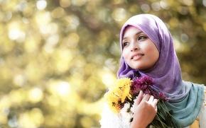 Картинка девушка, цветы, Lolli IKeen