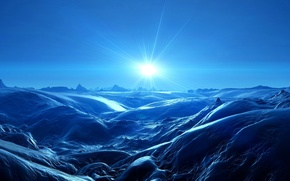 Обои свет, пейзаж, скалы