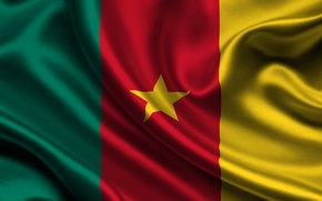 Картинка Красный, Звезда, Флаг, Текстура, Жёлтый, Зелёный, Flag, Камерун, Republic of Cameroon, Cameroon, Republique du Cameroun, …