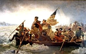 Картинка картина, живопись, painting, 1851, Washington crossing the Delaware, Emanuel Leutze