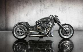 Картинка серый, мотоцикл, байк, карбон, 2011, кастом, Bike, зеркальная плитка, Mansory Zapico Custom Bike