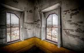 Картинка комната, окна, интерьер