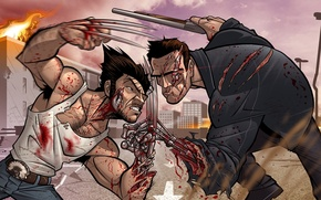 Картинка Росомаха, Wolverine, Арнольд Шварценеггер, patrick brown, arnold schwarzenegger