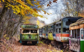 Картинка Pennsylvania, Head On, Trolley Graveyard