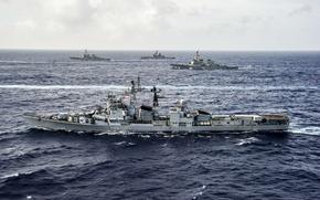 Картинка море, корабли, флот