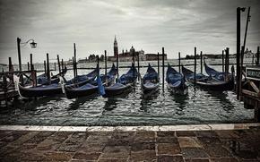 Картинка Италия, Венеция, Italy, гондолы, Venice, Italia, Venezia