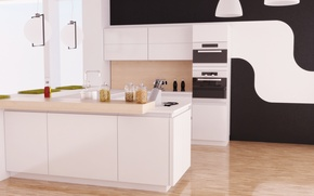Обои уют, дом, стиль, интерьер, Кухня