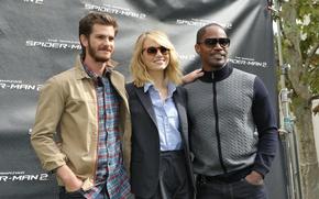 Картинка Emma Stone, Andrew Garfield, Jamie Foxx, The Amazing Spider-Man 2, Новый Человек-Паук 2