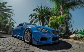 Картинка BMW, Blue, Series, Vossen, Widebody