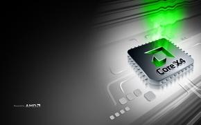 Обои AMD, процессор, Core 4X