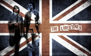 Картинка music, rock, band, flag, english rock band, the libertines
