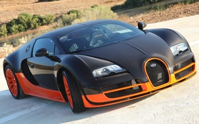 Обои bugatti, veyron, 16.4, super sport, car, supercar, wallpapers