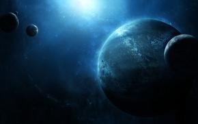 Картинка huge, mysterious, many planets