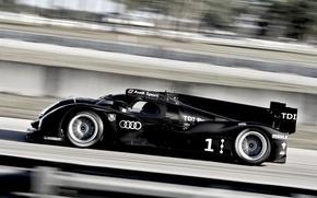 Картинка машина, авто, audi, спорт, монстр, TDI, тачка, гонки, sport, прототип, болид, карт, трэк, дизель, победитель, …