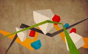 Картинка цвета, линии, абстракция, геометрия, фигуры