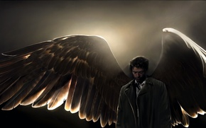 Обои art, angel, supernatural, Castiel, amanda tolleson