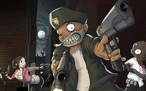 Картинка игра, зомби, выживание, valve, left 4 dead, source, left for dead, лефт фо деад