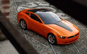 Обои 149, giugiaro concept, mustang, мустанг, брусчатка, Ford