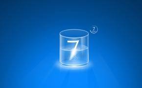 Обои синий, стиль, компьютеры, windows seven 7, computers widescreen, оперативная система