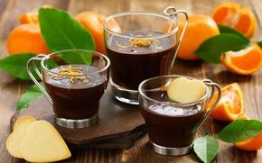 Картинка оранжевый, сердце, еда, шоколад, печенье, крем, десерт, heart, chocolate, cream, dessert, cookie, orangе