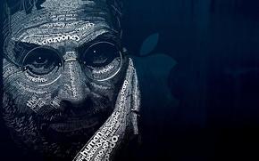 Обои синий, буквы, фон, темный, ipod, apple, мужчина, iphone, black, слова, цитаты, background, words, man, ipad, ...