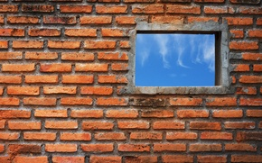 Картинка wall, bricks, window