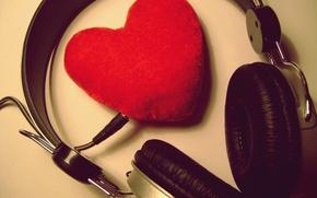 Картинка любовь, музыка, сердце, music, наушники, love, признание, чувство, 14 февраля, Valentine's day