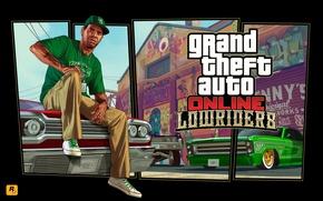 Обои Ламар, лоурайдер, тачки, арт, grand theft auto online, Grand Theft Auto V, cars